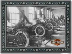 Zwarte Harley-Davidson Factory Spiegel