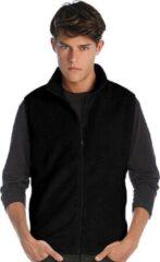 James & Nicholson Fleece casual bodywarmer zwart voor heren - Outdoorkleding wandelen/zeilen - Mouwloze vesten M