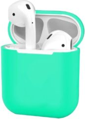 BTH Siliconen Hoes voor Apple AirPods 2 Case Ultra Dun Hoes - Turquoise