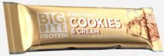 FCB Sweden Big Bite Protein Bar - Proteïnereep - 1 doos (24 repen) - Cookies & Cream