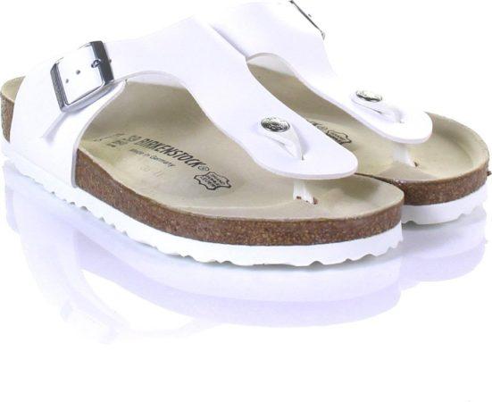 Afbeelding van Witte Birkenstock Ramses Normaal Heren Slippers - White - Maat 43