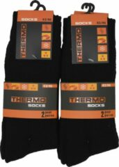 Inter socks Intersocks - Thermosokken heren - Multipack 4 paar - 43/46 - zwart