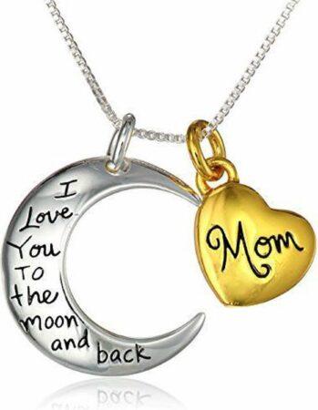 Afbeelding van Zilveren Zoëies® mama ketting, I love you to the moon and back