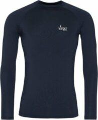 Marineblauwe FitProWear Cool Longsleeve Baselayer Navy Heren Maat XXL - Lange mouw - Sportkleding - Sportshirt - Trainingskleding - Polyester - Shirt - Slim Fit