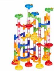 Relaxdays knikkerbaan kinderen - kogelbaan - ballenbaan - 120 delig - speelgoed - knikkers