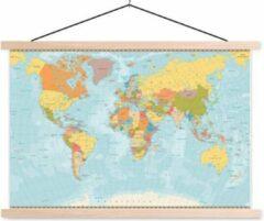 Sweet Living Schoolplaat Wereldkaart Gedetailleerd