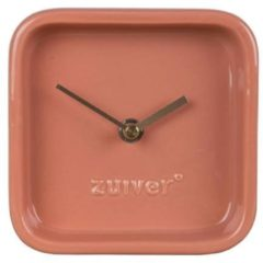Roze Zuiver Cute Tafelklok 13,5 x 13,5 cm