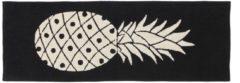 Zwarte Lorena Canals - vloerkleed Pineapple - 80 x 230 cm