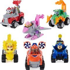 Spin Master PAW Patrol , Dino Rescue Deluxe Rev Up-voertuig met verrassingsdinofiguur (stijlen variëren)