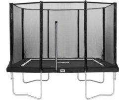Antraciet-grijze Top Twence Salta Combo Trampoline met veiligheidsnet - 153 x 213 cm - Antraciet