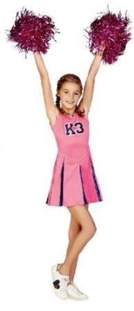 Afbeelding van Roze Studio 100 K3 Verkleedjurk Cheerleader Maat 152 - Carnavalskleding