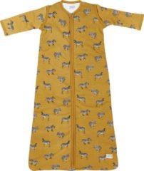 Gouden Meyco Zebra Animal babyslaapzak met afritsbare mouw gevoerd - 110 cm - Honey Gold