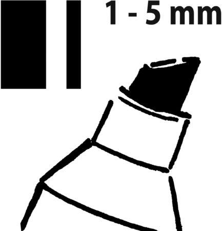 Afbeelding van Sigel Krijtstiften 50, stiftdikte 1-5 mm, zwart (GL180)