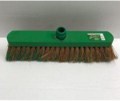 Groene Merkloos / Sans marque Zachte binnenbezem kop kunststof 40 cm - Binnenbezems