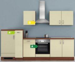 Flex-Well Küchenzeile G-300-2504 + Haube 6091 Sienna 300 cm