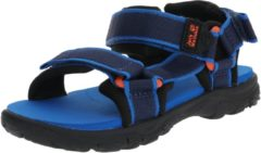 Blauwe Jack Wolfskin Kids Seven Seas 3 Outdoorsandalen - Blue Orange - Maat 29