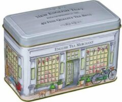 New English Teas Vintage Traditional Tea Merchant's Shop Tin 40 Teabags English Breakfast