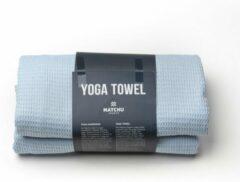 Blauwe Matchu Sports - Yoga handdoek - 183 x 61 cm - Divine Blue