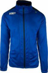 Blauwe Robey Trainingsjack - Voetbaljas - Royal Blue/Black - Maat 152