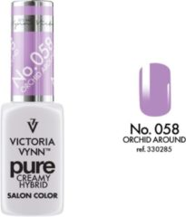 Paarse Gellak Victoria Vynn™ Gel Nagellak - Gel Polish - Pure Creamy Hybrid - 8 ml - Orchid Around - 058