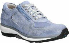 Xsensible -stretchwalker 30101- chelsea blauw metallic-sneaker- maat 38