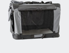 Grijze Innopet Carrier opvouwbare bench - 70 x 52 x 52 cm