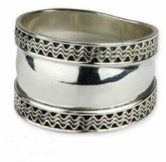 Etnox Zilveren Ring Twee golven maat 58