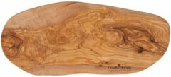 Bruine Bowls and Dishes Pure Olive Wood Tapasplank- Olijfhout - 45cm t/m 50cm