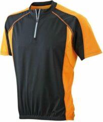 James & Nicholson James and Nicholson - Heren Fietsshirt (Zwart/Oranje)