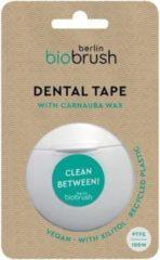 Biobrush flosdraad - vegan en recycled plastic - met 3 stuks