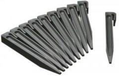 Nature Grondpennen voor borderranden grijs H19,5x1,9x1,8 cm set 10 stuks