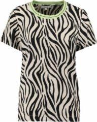 Garcia blouse shirt sand black met glitterboord - Maat M