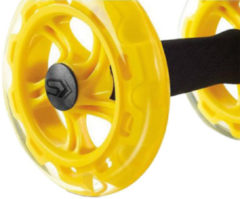 Gele SKLZ Core Wheels Buikspierwielen - Inclusief Trainingsgids