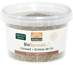 Mattisson Organic gekiemde lijnzaad gemalen omega 3 180 Gram