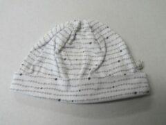 Noukie's , muts , zomer , uni , wit /grijst , T1 - 46 cm , 6-12 maand