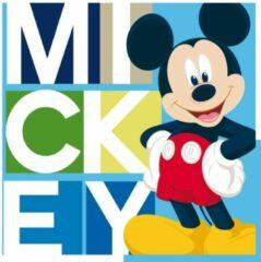Carbotex sierkussen Mickey Mouse junior 40 cm polyester blauw
