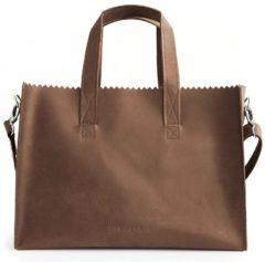 Bruine MYOMY MY PAPER BAG Baby diaperbag - hunter original