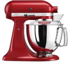 Rode KitchenAid keukenmachine Artisan 5KSM175PSEER met gratis groentesnijder en 3 trommels, 300 W