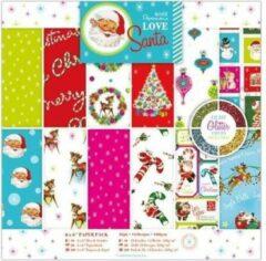Docraft 6 x 6 Inch Papierpak (36 pak) - Love Santa