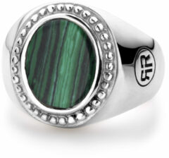 Rebel & Rose Rebel and Rose RR-RG018-S Ring zilver Women Oval Malachite 44