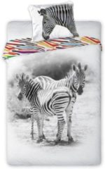Animal Pictures Zebra - Dekbedovertrek - 140 x 200 cm - Multi