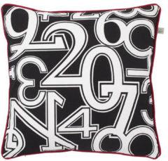 Zwarte Dutch Decor Sierkussen Numbers 50x50 Cm Zwart