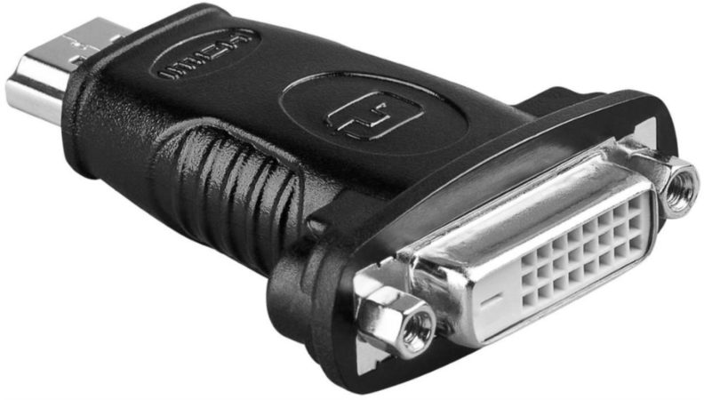 Afbeelding van Zwarte Wentronic Goobay A 323 (HDMI 19pin M/DVI-D 24+1pin F) 19 HDMI M DVI-D (24+1) F kabeladapter/verloopstukje