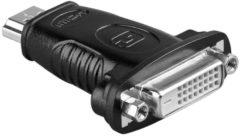 Zwarte Wentronic Goobay A 323 (HDMI 19pin M/DVI-D 24+1pin F) 19 HDMI M DVI-D (24+1) F kabeladapter/verloopstukje