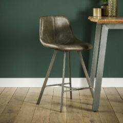 LifestyleFurn Barstoel 'Celia' (zithoogte 66cm), kleur Taupe