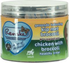 Renske Gezonde Beloning Hartjes 100 g - Hondensnacks - Kip&Broccoli - Hondenvoer