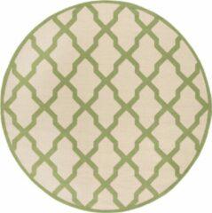 Groene Safavieh Hedendaags Ronde Vloerkleed, BHS122