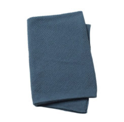 Blauwe Elodie Details Deken Gebreid Tender Blue 70 x 100 cm