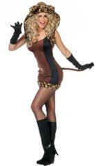 Wilbers Leeuw & Tijger & Luipaard & Panter Kostuum | Spinnende Sexy Cat | Vrouw | Maat 36 | Carnaval kostuum | Verkleedkleding