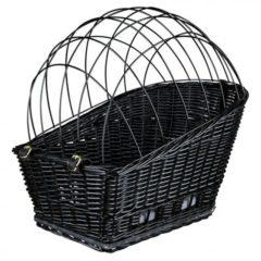 Grijze Trixie Fietsmand Voor Bagagedrager - Zwart - 35 x 49 x 55 cm